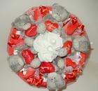 Букет с конфетами и мишками