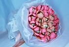 """Букет с конфетами """"25 тюльпанов"""""""